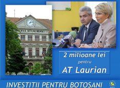 Investiții pentru Botoșani: două milioane lei în corpul vechi al A.T. Laurian