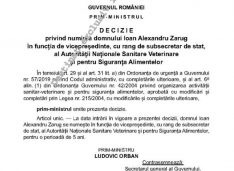 Decizia prin care premierul Orban mai pune un om de la ALDE Botoșani într-o funcție la București