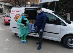 Daniel Câșlariu a donat, prin Grup Civic Botoșani, 4000 de măști și 4000 de mănuși spitalelor și polițiștilor