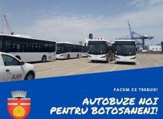 Autobuzele noi pentru Botoșani au ajuns în țară dar Eltrans nu are încă niciun șofer cu atestat