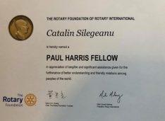 Un om de afaceri botoșănean a primit o distincție internațională din partea Rotary Internațional