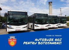 FOTO Au ajuns primele 4 autobuze noi la Botoșani