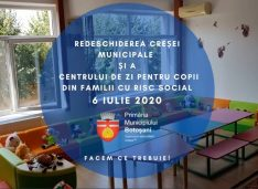 Flutur: Se redeschid Creșa municipală și Centrul de zi pentru copiii din familiile cu risc social