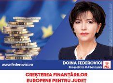"""Federovici: """"Voi aduce bani europeni pentru dezvoltarea județului Botoșani prin toate programele, inclusiv prin mecanismul ITI – Țara de Sus, Investiții Teritoriale Integrate"""""""