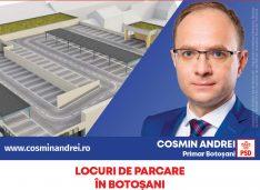 """Cosmin Andrei a lansat programul """"Parcarea de la blocul tău"""" împreună cu proiectul """"Parking supraetajat la Botoșani"""""""