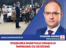 """Cosmin Andrei: """"Cel mai bun consilier al unui primar este cetățeanul. Bugetul de investiții al orașului îl voi stabili în fiecare an cu botoșănenii!"""""""