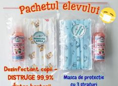Reduceri la pachetele elevului și profesorului la Farmacia Anca: gel dezinfectant produs în farmacie, măști și un dezinfectant