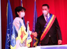 FOTO Angel Gheorghiu a depus jurământul de primar al orașului Bucecea. Federovici, Trufin și Andrei au participat la învestitură