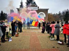 FOTO Ziua de 1 Decembrie, ziua dedicată tuturor românilor, nu a trecut neobservată, în actualul context epidemiologic