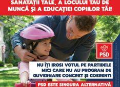 """PSD Botoșani: """"Pe 6 decembrie votează în siguranță pentru siguranța sănătății tale, a locului tău de muncă și a educației copiilor tăi"""""""