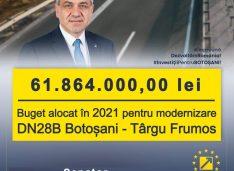 Achiței dă vestea care spulberă PSD: PNL a prins 61.864.000 lei în bugetul din 2021 pentru drumul Botoșani-Târgu Frumos