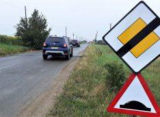 Limitatoare de viteză în intersecțiile cu probleme de pe drumurile județene