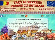 Târg de produse tradiționale în fața Primăriei în fiecare sfârșit de săptămână până pe 10 octombrie