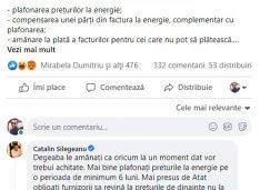 Om de afaceri din Botoșani, soluții pentru criza facturilor la energie expuse pe pagina de Facebook a premierului Cîțu