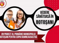 Primarul Andrei anunță că elevii din Botoșani vor primi tichete de 500 de lei pentru ochelari